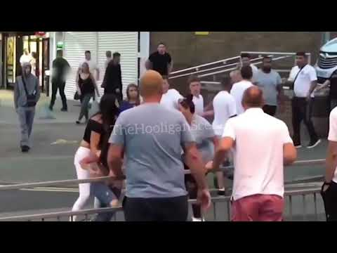 England football Hooligans fight after the game vs Croatia - World Cup 2018