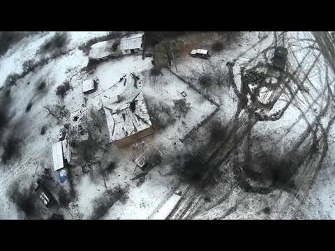 Drone Footage Shows Destruction in Ukrainian Town