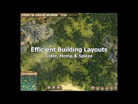 Anno 1404 Venice - Efficient Building Layouts - Cider, Hemp and Spices Video