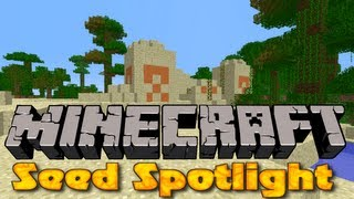Minecraft 1.4.6 Seed Spotlight #38 - NPC VILLAGE + DESERT TEMPLE
