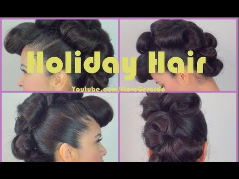 Holiday fauxhawk hair tutorial by ILoveGerardo-Christmas eve day hair idea