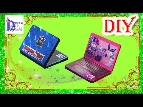 Как сделать ноутбук/компьютер для кукол. DIY. How to make a doll laptop/notebook/computer