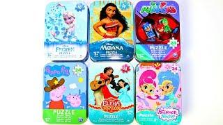 6 Puzzles Moana Frozen Peppa Pig Pj Masks Shimmer & Shine Elena Avalor  Mundo de Juguetes