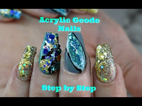 BEST AND EASIEST ACRYLIC GEODE NAIL!