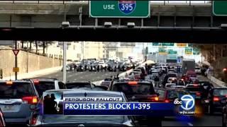 jew Jeff Goldberg on Ferguson NigWig Hip Hoppers Blocking I-395