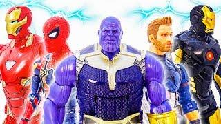 Avengers vs Thanos,Battle! Go~! Avengers Spider Man,Iron Man,Captain America #Toymarvel