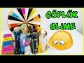 Bitmiş Eski Malzemeler ile Çöplük Slime - Mystery Wheel of DUMP IT Slime Challenge - Vak Vak TV