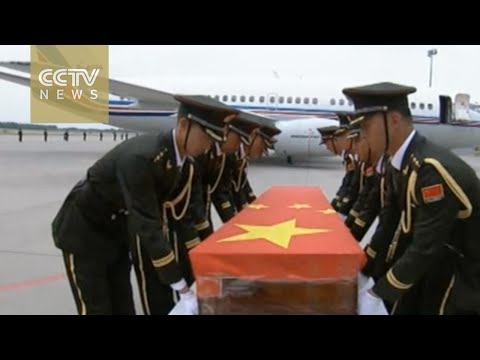 Deceased Chinese peacekeeper back home
