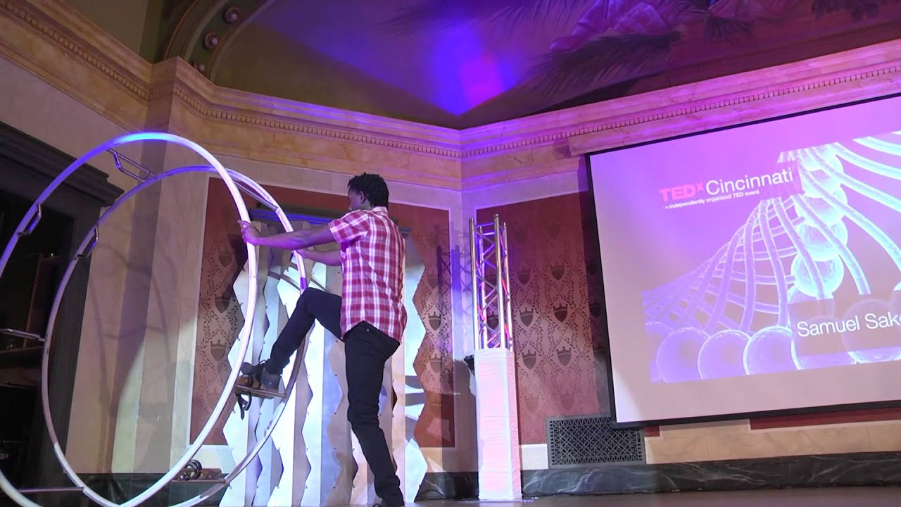 Samuel Sake the amazing gym wheel performance | Samuel Sake | TEDxCincinnati