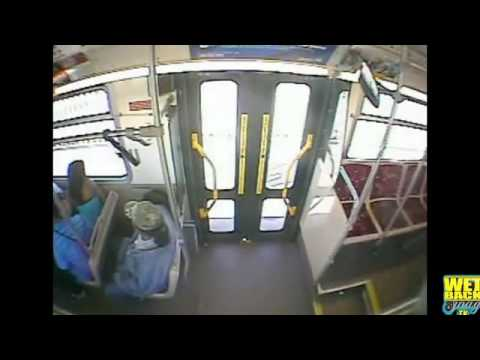 Caught On Tape- Bus Driver Goes Ham On A Passenger For Throwing Rocks At The Bus!