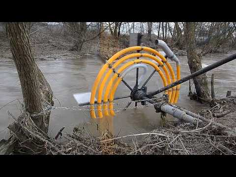 Water wheel pump