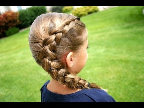 Same-Side Dutch Braid | Medium Hairstyles | Cute Girls Hairstyles