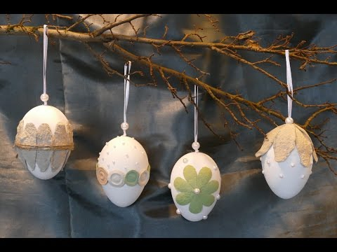 Frühlingsdeko / Osterdeko basteln – Eier dekorieren / tinker spring decoration