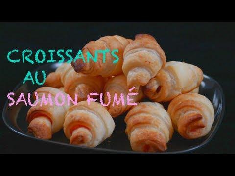 Croissants au saumon fumé - recette pour l'apéritif