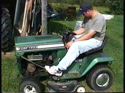 Honda Mtd Pro Lawn Mower ... The old 12 HP Single Cylinder Turf Trac Lawn Tractor by MTD - YouTube