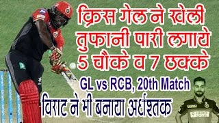 Chris Gayle 77 - Virat Kohli 64 Royal Challengers Bangalore Innings 213