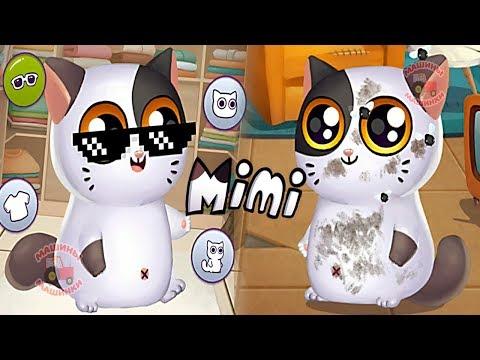 СИМУЛЯТОР КОТЕНКА МИМИТОС #1 My Virtual cat Mimitos 2 РАДУГАРОГ в новой игре про котенка с улицы #ММ