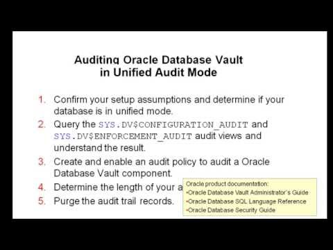 Auditing Oracle Database Vault 12c in Unified Audit Mode