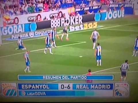 el 0-6 del Real Madrid al Español