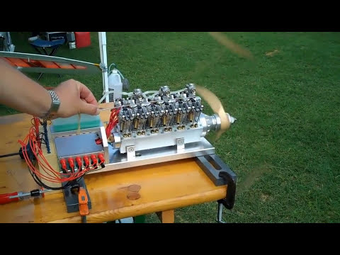 Model V-12 Engine Runs