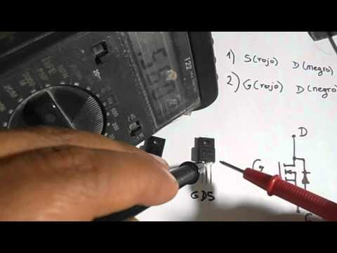 Comprobando el MOSFET 7N60 con el multitester digital