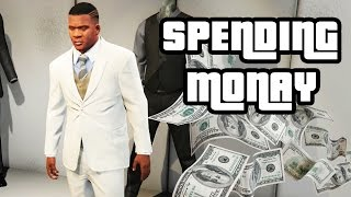 GTA 5 - SPENDING ALL THE MONAY - Railgun, Business's, Clothes, Los Santos Customs - Xbox One / PS4