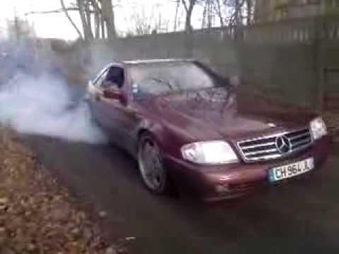 Burnout Ferderal 275/30/19 K.O. Mercedes R129 SL320 5G automat ...