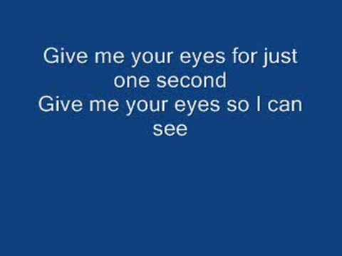give me your eyes by brandon heath (lyrics)