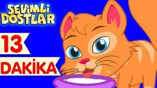 Kedi Miyav Dedi ve Sevimli Dostlar ile Çizgi Film Çocuk Şarkıları 2017