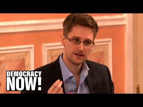 "Edward Snowden Speaks Out Against NSA ""Dragnet Mass Surveillance"""