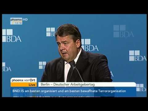 Deutscher Arbeitgebertag: Sigmar Gabriel zu Bürokratieabbau & Steuerpolitik am 04.11.2014