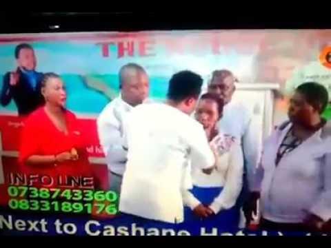 Ghanaian Prophet Nana Poku Heals Woman By Kissing Her During Service
