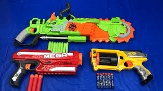 Colorful Toy Guns Box of Toys Nerf Blasters Brainsaw