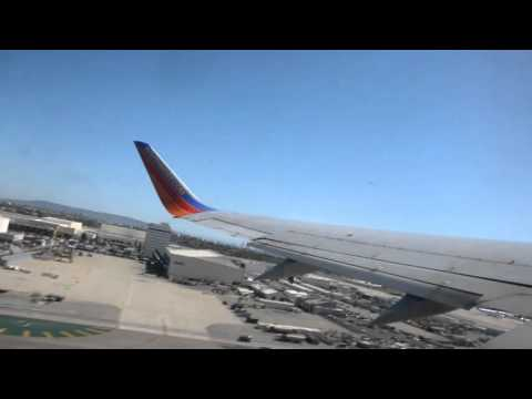 Southwest Airlines Boeing 737-300W take off from Los Angeles (LAX/KLAX) California
