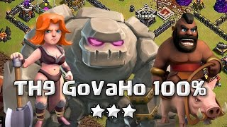 TH9 GoVaHo Sin Reina 100% 🌟🌟🌟 | Clash of Clans