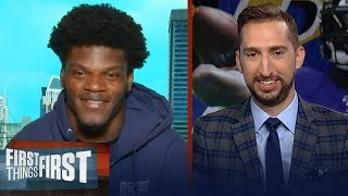 Lamar Jackson on dominant Wk 1 win, 'Hollywood' Brown & advice for Kyler | NFL | FIRST THINGS FIRST