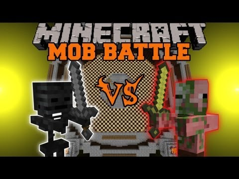 ZOMBIE PIGMAN VS. WITHER SKELETON - Minecraft Mob Battle - Arena Battle