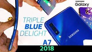 Samsung Galaxy A7 Durability Test- Flexible Bendy and..? | Triple Camera Review Vs Poco F1