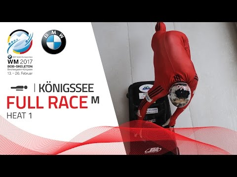 Full Race Men's Skeleton Heat 1 | Königssee | BMW IBSF World Championships 2017