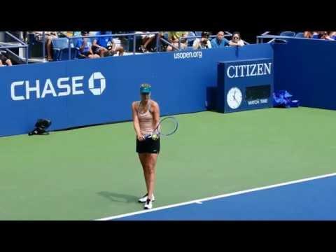 Maria Sharapova, US Open Tennis Championship, Training Session