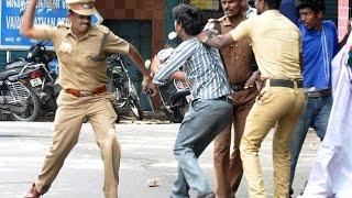 Tamilnadu Police Indiscriminately attacked College Students over TasmacBan