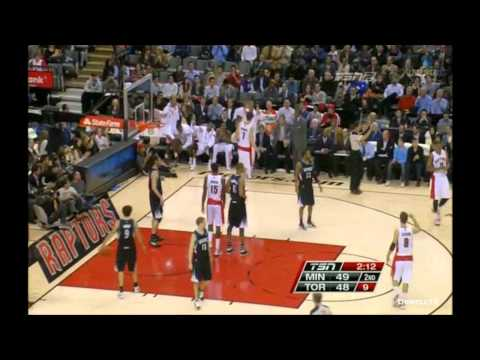 Andrea Bargnani highlights 31 pts Toronto Raptors vs Minnesota Timberwolves 97 87 01/09/2012
