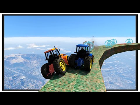 GTA 5 Funny Moments : Tractor Fury! (Olli43 vs Geo23)