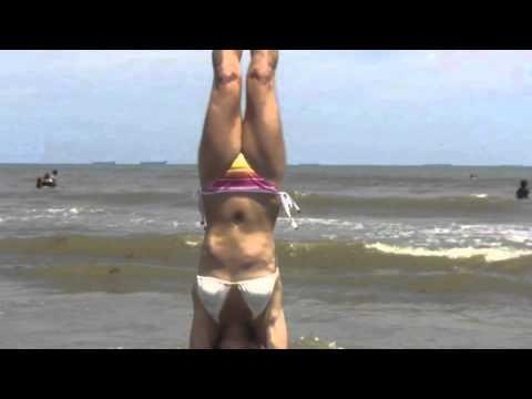 yoga in bikinis