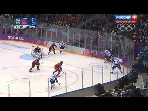 XXII зимние Олимпийские игры Хоккей Мужчины Россия(4) Норвегия(0) (3)тайм