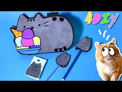 DIY.Школьная канцелярия и кот ПУШИН.Простые идеи своими руками/Back to school.Pencil case.