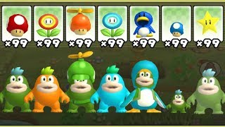 New Super Mario Bros. Wii - All Spike Power-Ups