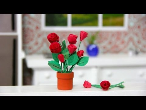 How to Make a Doll Flower Pot and Flowers