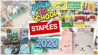 Staples Back to School 2020 ~ School Supplies ~ Backpacks ✂️ Lunch Boxes 📕✏️🖍