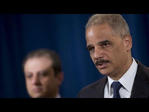 Eric Holder Calls for End to Violence in Ferguson